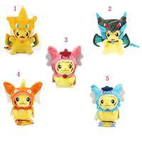 Wholesale 10 cm Poke Center Mega Tokyo Pikazard Pikachu Charizard Magikarp Brinquedo Plush Toys Stuffed Doll style ZJ1282