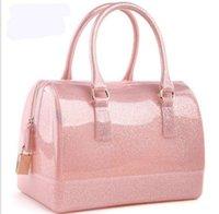 silicone handbags - Women Ladies silicone furly jelly f handbag famous brand bag candy bags purses high quality bolsas totes