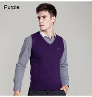 australian sweaters - Fall New genuine cashmere sweater men wool pullover vest Australian wool vest pure cashmere vest for men