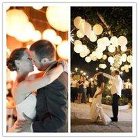 chinese lanterns - New Hanging White Paper Lanterns Lighting for DIY Wedding Decorations Supplies Chinese Lantern