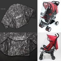 Wholesale 2015 Breathable Baby Stroller Rain Cover Dust Cover For Stroller Pushchair Stroller Accessories