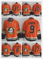 anaheim - 2016 Orange Anaheim Ducks Teemu Selanne Jersey Ryan Getzlaf Corey Perry Ryan Kesler Paul Kariya Cheap Ice Hockey Jerseys
