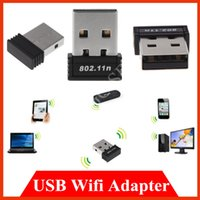 Wholesale Mini USB wi fi network card wireless WiFi Plug N b g n Mbps WLAN wi fi Adapter for netbook laptop tablet computer PC