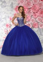 Wholesale 2016 Summer Glistening Thick Crystal Beaded Bodice with Ball Gown Tulle Skirt Quinceanera Dresses Special Girls party Gown