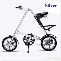 Folding Bikes strida bike - Strida Folding Bike STRIDA inch Aluminum Alloy Folding Bike Black White Gold Sliver Red Road Folding Bikes
