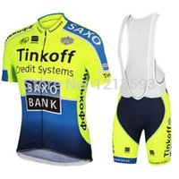 Wholesale 2014 SAXOBANK men s cycling Jersey sets with short sleeve bike shirt padded bib short in cycling clothing breathable bicycle wear