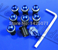 Wholesale SET For Honda CBR R1 Suzuki Kawasaki Ducati Motorcycle Windshield Windscreen Fairing Bolt Kit Screen Screw Kit