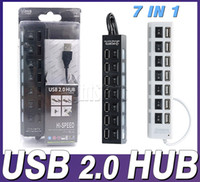 Wholesale note USB HUB Power Strip ports socket LED Light UP Concentrator with Switch Charger Station Office Gift mouse keyboard