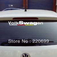 Wholesale 2014 NEW STYLE waterproof cool vinyl wrap reflective tape car stickers for vw volkswagen scirocco r20 gti golf and so