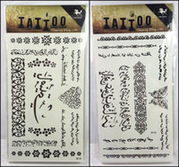 arabic tattoos - 32models for choose women temporary tattoo Arabic tattoo sticker freedom tatuagem temporaria