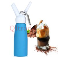 Wholesale 40PCS HHA412 HOT ml Dispenser Whip Dessert Coffee Fresh Cream Butter Dispenser Whipper Foam Maker Metal
