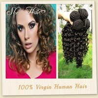 Cheap Hot Selling Sensationel Brazilian Curly Human Hair Extensions Unprocessed Brazilian Virgin Hair Curly 3 Bundles Can Be dyed and Bleached