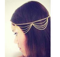 Wholesale Big Discount New VIp Seller Fashion Gothic Women Ladies Crown Head Chain Headpiece Headdress Headwrap Hair Chain Jewelry