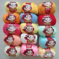 Wholesale gift box balls g ball silk cotton baby yarn ball for knitting