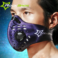 Wholesale Wolfbike Cycling Mask With Filter Carbon Elevation Half FaceTraining Mask Bicycle Bike Mask Mascarilla Polvo Mascaras Ciclismo