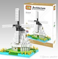 plastic windmill toy - World Famous Architecture NETHERLANDS WINDMILL Model Building Blocks Toys