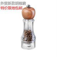 acrylic pepper shaker - Acrylic manually grind pepper spice jar seasoning bottle package black pepper grinder shaker powder