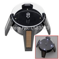 Wholesale Ship From US Brand New Solar Display Stand LED Rotating Plate for Jewelry Watch Phone