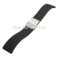 Wholesale mm Silicone Rubber Sport Waterproof Watch Band Strap Deployment Buckle
