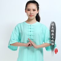 Wholesale The new summer cotton sleeve clothes and tai chi clothing natural cotton breathable tai chi clothing