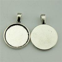 Wholesale 100pcs mm colors Antique Silver Antique Bronze Color Round Shape Flat Back Cameo Cabochon Base Setting DIY