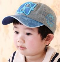 Wholesale New Fashion Cowboy Kid Snapback Hat For Child Baseball Cap Kid Hat G Letters Pattern Child Hat For Boy Baseball caps Cheap z
