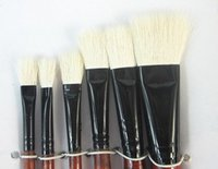 beginners oil painting - set flat paint brushes wool hair for oil acrylic shading gouache watercolor painting DIY artist school beginner
