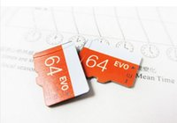 Wholesale 100Pcs EVO GB GB GB GB Micr SD Card TF Memory Card CLASS10 Flash SDHC SD Adapter SDXC White Retail Package for DHL