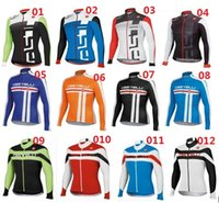 Wholesale Castelli Winter Cycling Jerseys Bike Jacket Thermal Fleece Bicycle Skinsuit Sprots Wear Ciclismo Clothing For Men