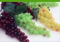 decorative artificial grapes - Novelty Simulation grape Artificial Fruits Large Grapes For Home Living Room Ornaments Idyllic Decorative