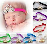 Wholesale Europe and America Hot Sale Baby Head Band Pearls Headband Yarn Flower Tddler Girl Headwear