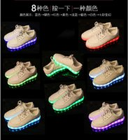 Wholesale New USB Charging Colorful shoes of the light emitting luminous LED fluorescent shoes shoes for men and women casual shoes