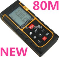 Wholesale Laser distance meter m ft Rangefinder Bubble Level Tool RZ80 measure Tape for Area Volume M in Ft Range finder free ship