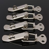 Wholesale 4 Silver Case Box Chest Spring Loaded Iron Tone Draw Lock Toggle Latch order lt no track