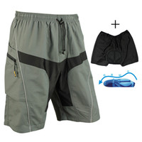 baggy cycling shorts - SANTIC Road Mountain Leisure Baggy Loose Men s Cycling Shorts Casual Shorts with Pad Detachable Liner Gray