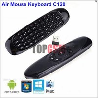 Wholesale C120 New Wireless GHz T10 Mini Fly Air Mouse Gaming Keyboard remote control For PC Android TV Box MX MXQ Mini PC Free Ship