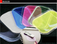 Wholesale New Sticky Mat Anti Slip Pad Car Dashboard Stand Holder for iPhone S G S HTC Samsung GPS Phone Pad DHL MOQ