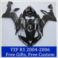 aftermarket decals - fairing kits for yamaha YZF R1 Motorbike Cowling YZF R1 Black Aftermarket motorcycle bodywork with original decal