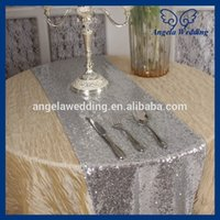 beaded table runners - RU017A hot sale Angela weddding beaded hand embroidered silver sequin table runner
