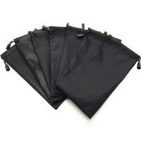 Wholesale Blak Pouches Sunglasses Soft Cloth Dust Cleaning Optical Glasses Carry Bag Portable