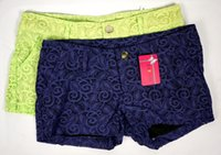 Wholesale Top Quality Fashion Sexy Lace Shorts Women Crochet Shorts Pantalon Court Dentelle Hot Low Waist Colors M L JIAOLUN
