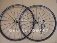 bicycle wheel building - Hand built deep mm carbon bike wheels cheap carbon fiber road bicycle tubular wheelset with holes K matte finish