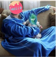 Wholesale 4 Colors Hot Sale Super Soft Fleece SNUGGIE Blanket Wearable Sleeve Blanket Keep You Warm And Your Hand Wearable Blanket CCA1835