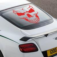 Wholesale art decor car window PVC cool fashion skull sticker waterproof family car vinyl decals for race moter bike
