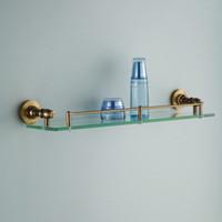 bathroom dressing tables - Fashion Antique Space Aluminum Dressing Table Single Tier Glass Shelf Cosmetic Rack Bathroom Shelves