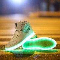 sneakers - New arrived Unisex Men and Women Fashion Colors LED Lighted Shoes Lace Up High top Casual Sneakers sport shoes