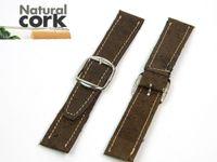 Wholesale MB Cork Portuguese cork crafts watch straps brown soft original high quality Watchbands