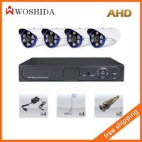 Wholesale 4CH AHD Security Camera Set DVR HD Array Light CCTV Camera Woshida