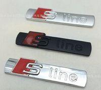 audi a4 - pieces D black and matte Metal S line Car fender Emblem Badge Sticker for audi A4 A6