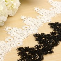 Wholesale Polyester Sewing Craft Crochet Scallop Shape Net Lace Trim Clothes Embroidered Applique Decorative Ribbon